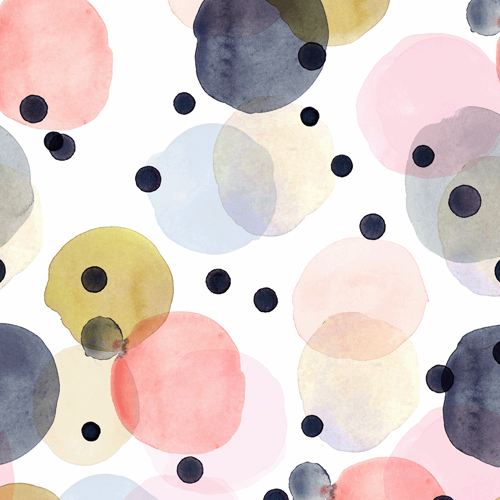 Confetti Dots Pink Gold Navy