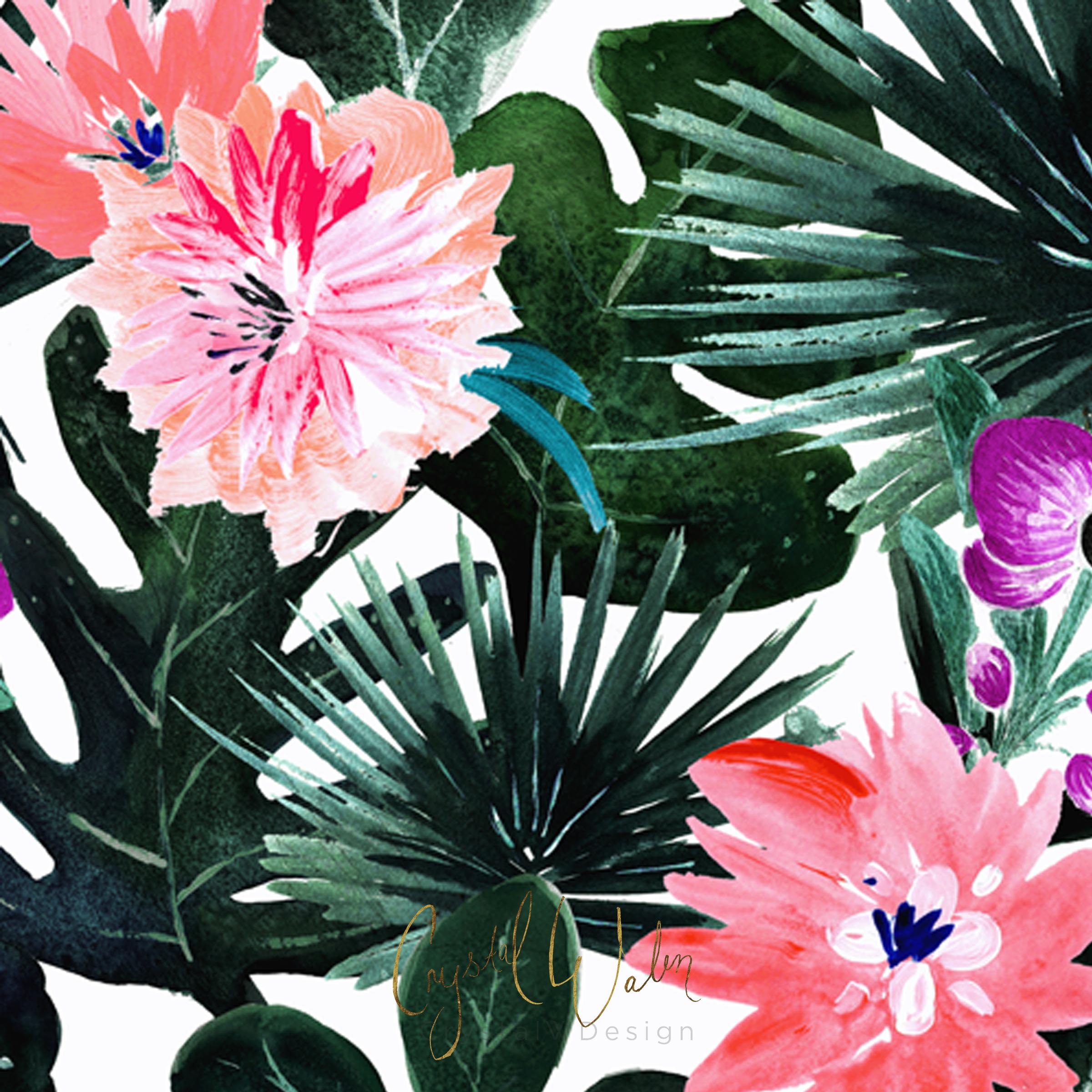 Lush Tropical Floral