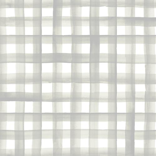 Watercolor Plaid - soft gray sage