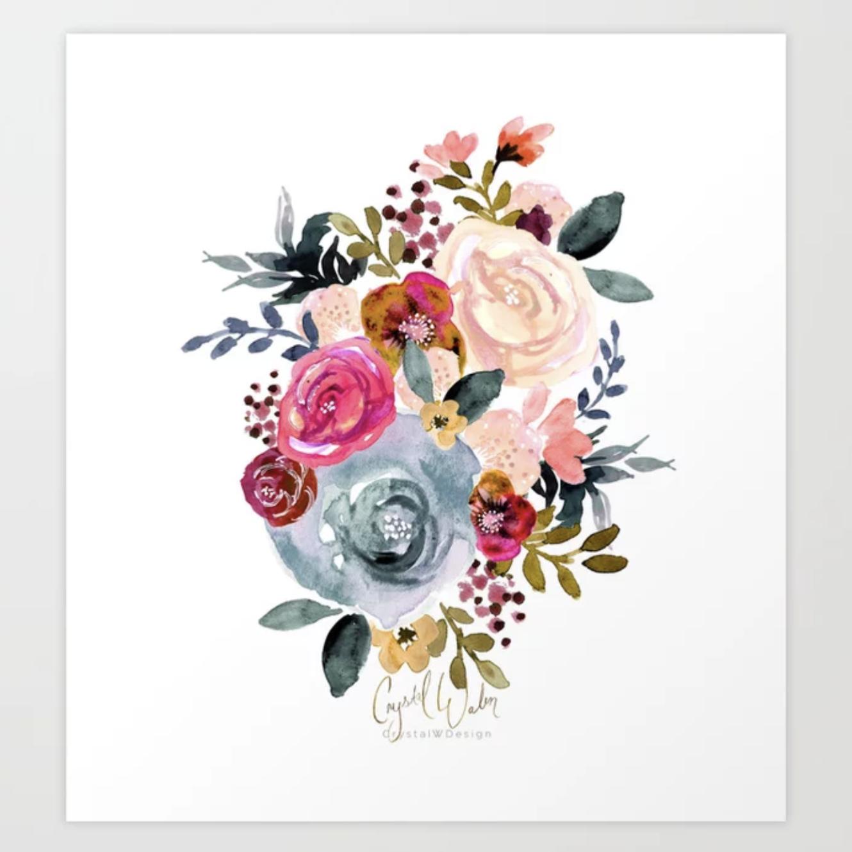 Autumn Rose - art print