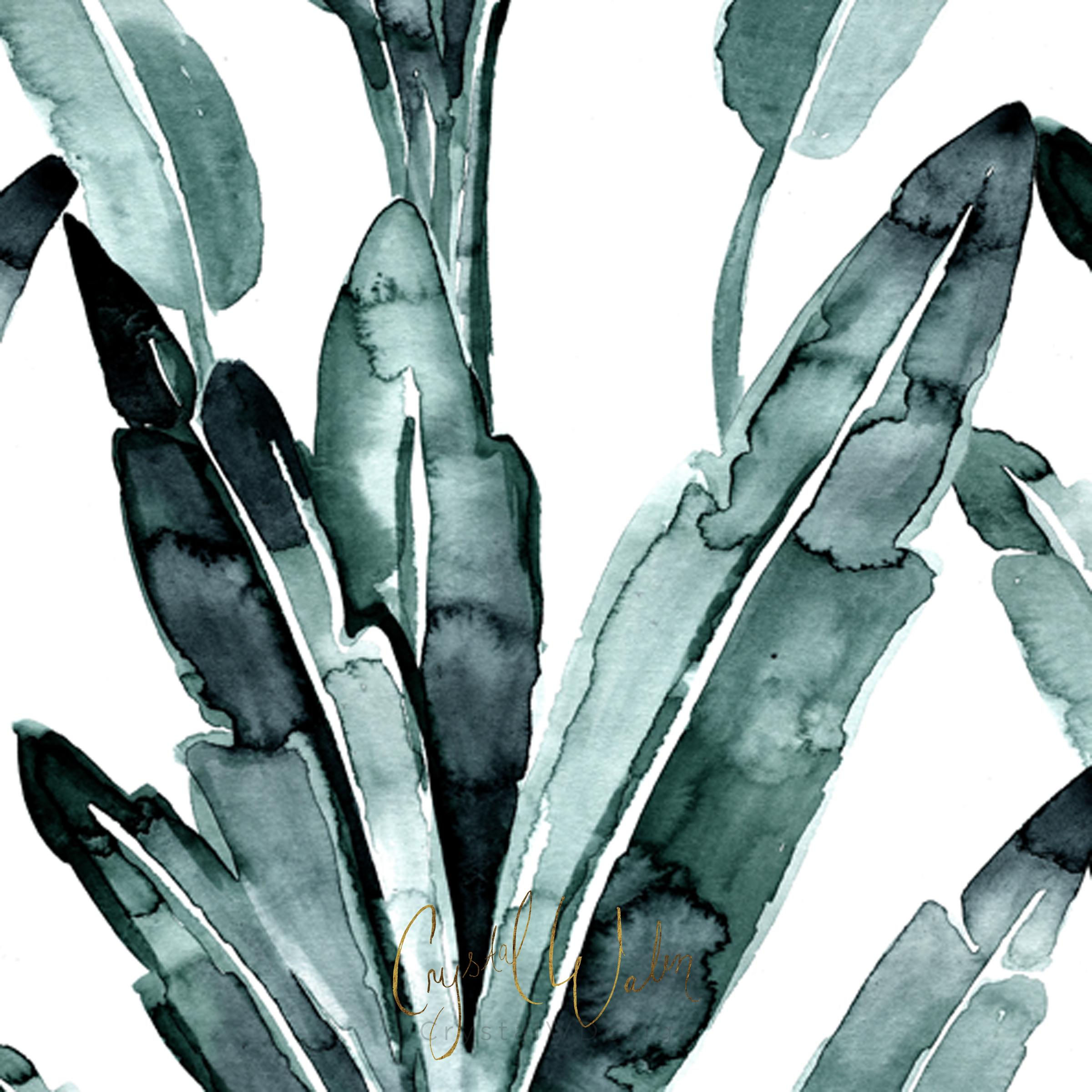 Banana Leaves - Blue Sage
