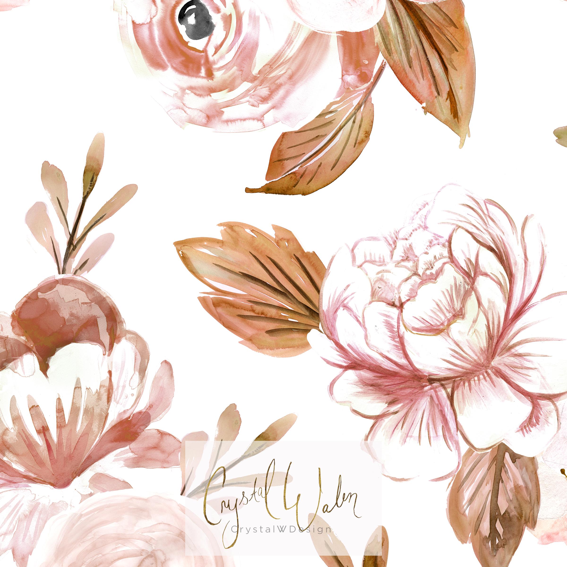 Bella Floral - rose gold shades