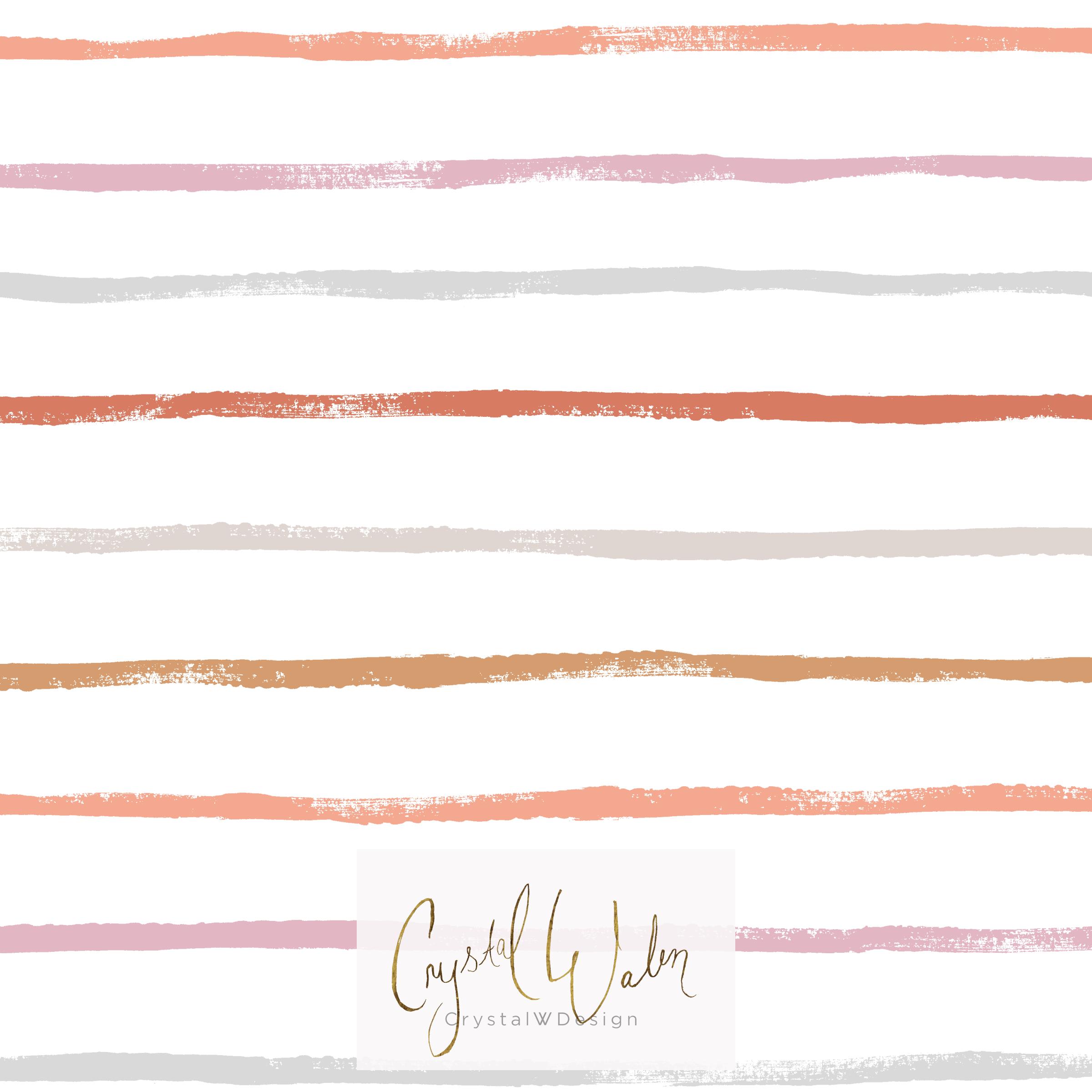 brush stroke stripe - earthy pastel