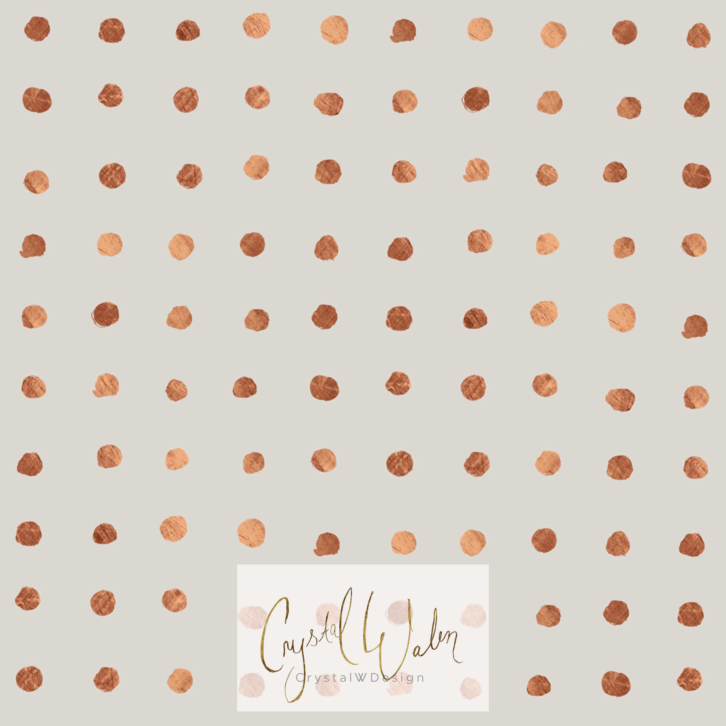 Copper Grid Dots