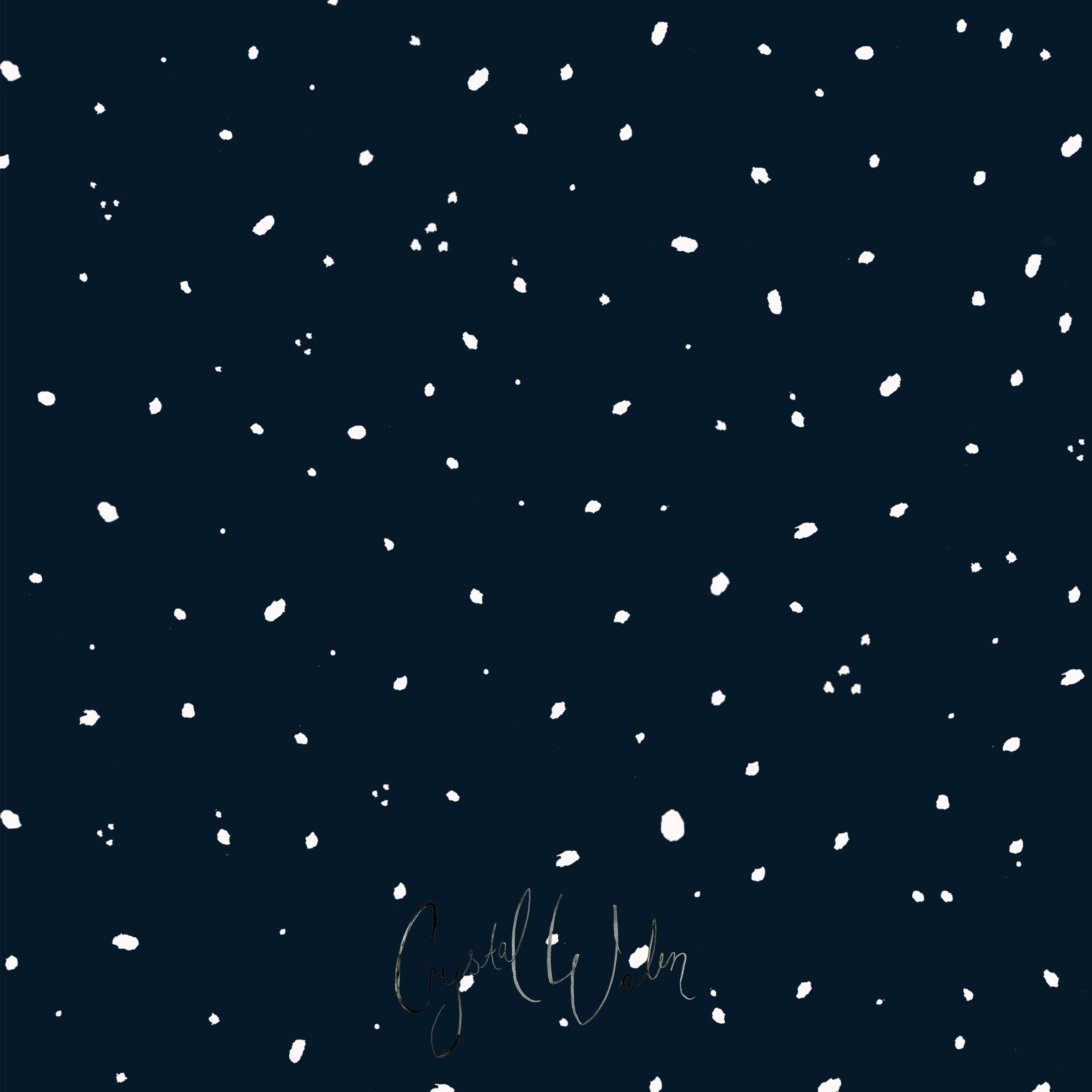 Cutie White Dots on Indigo