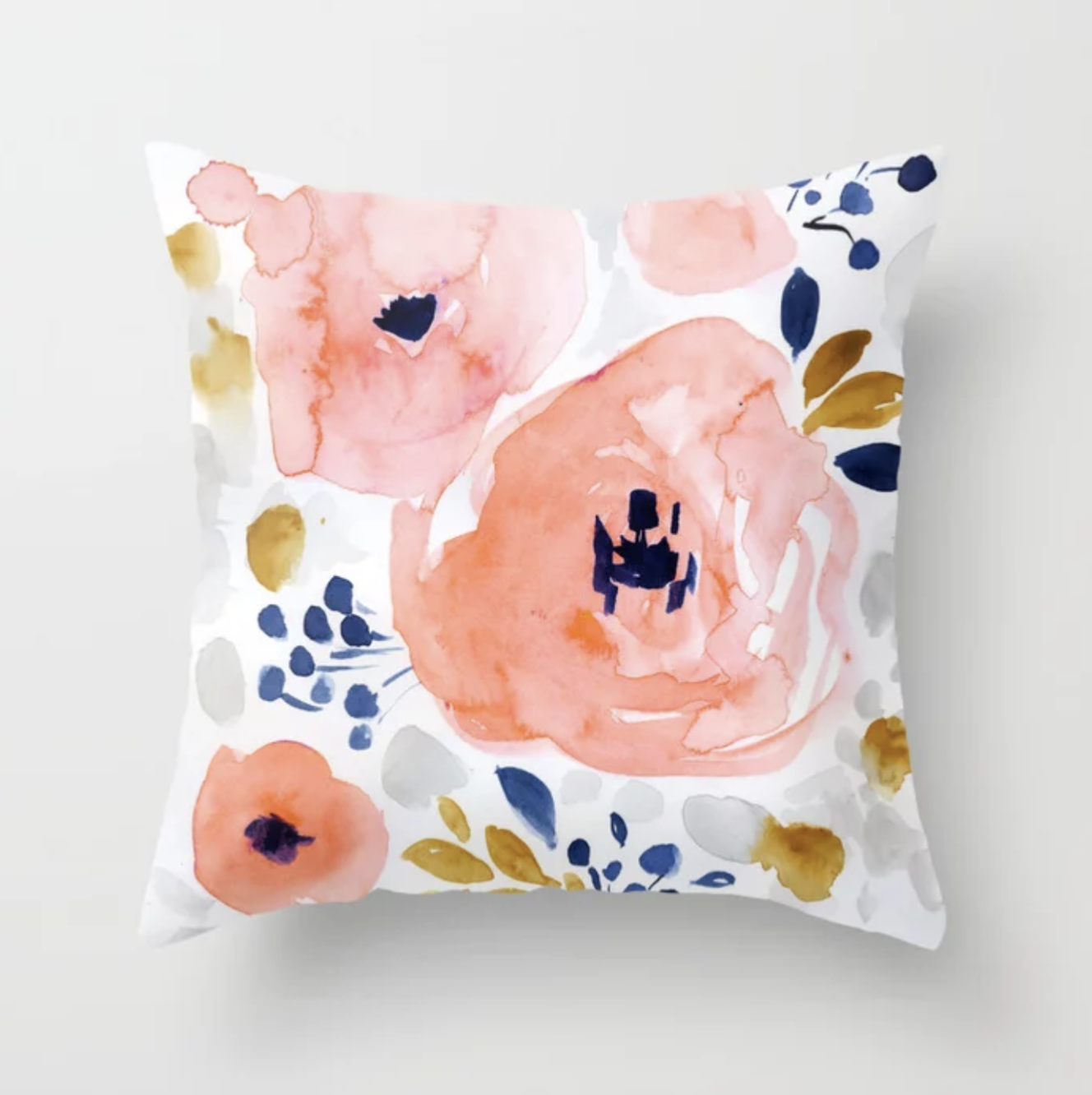 Genevieve Floral  - throw pillow