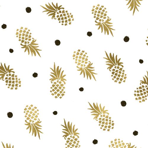 Gold Pineapple Dot