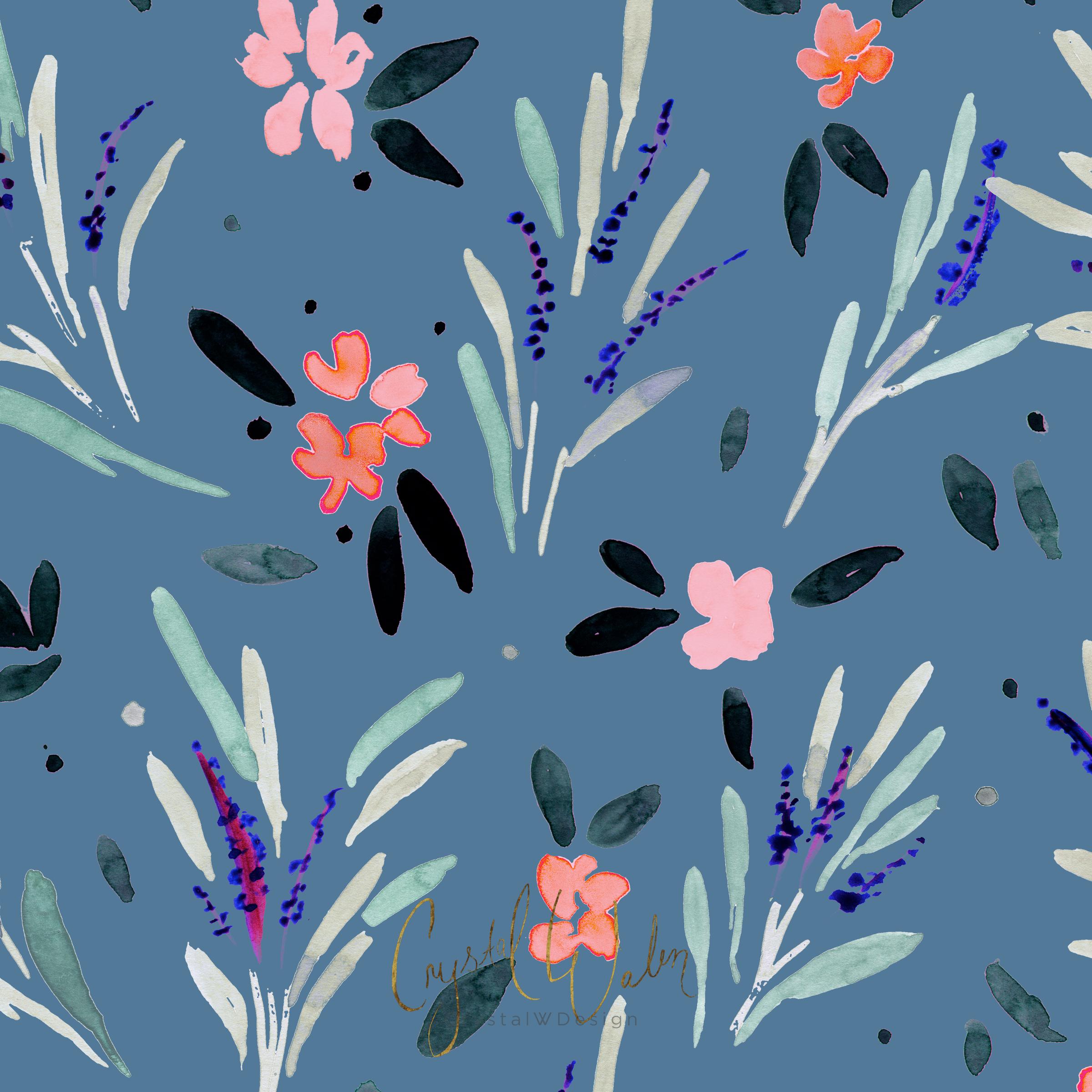 Kaia Floral blue