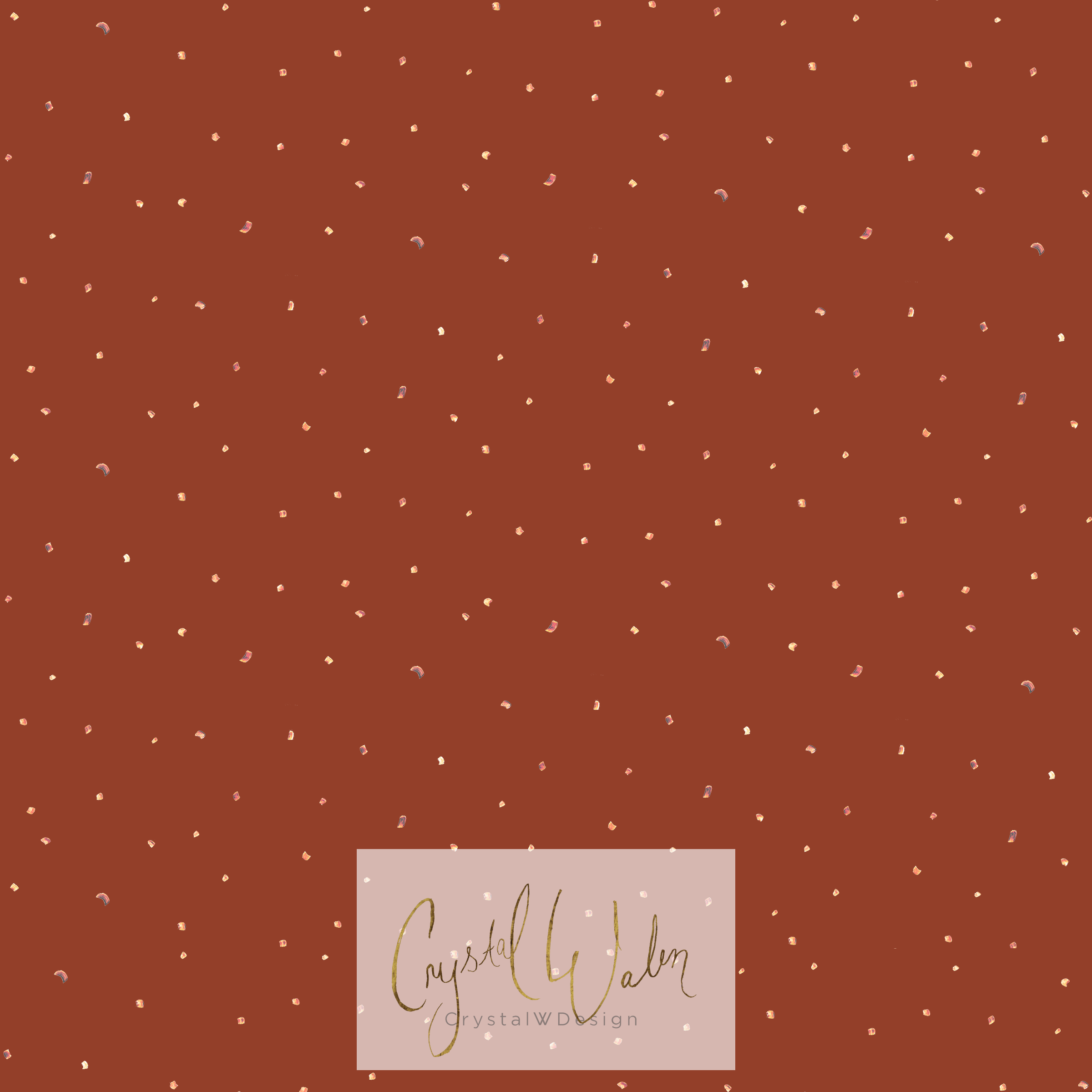 Mini Gold Dots - earthy red