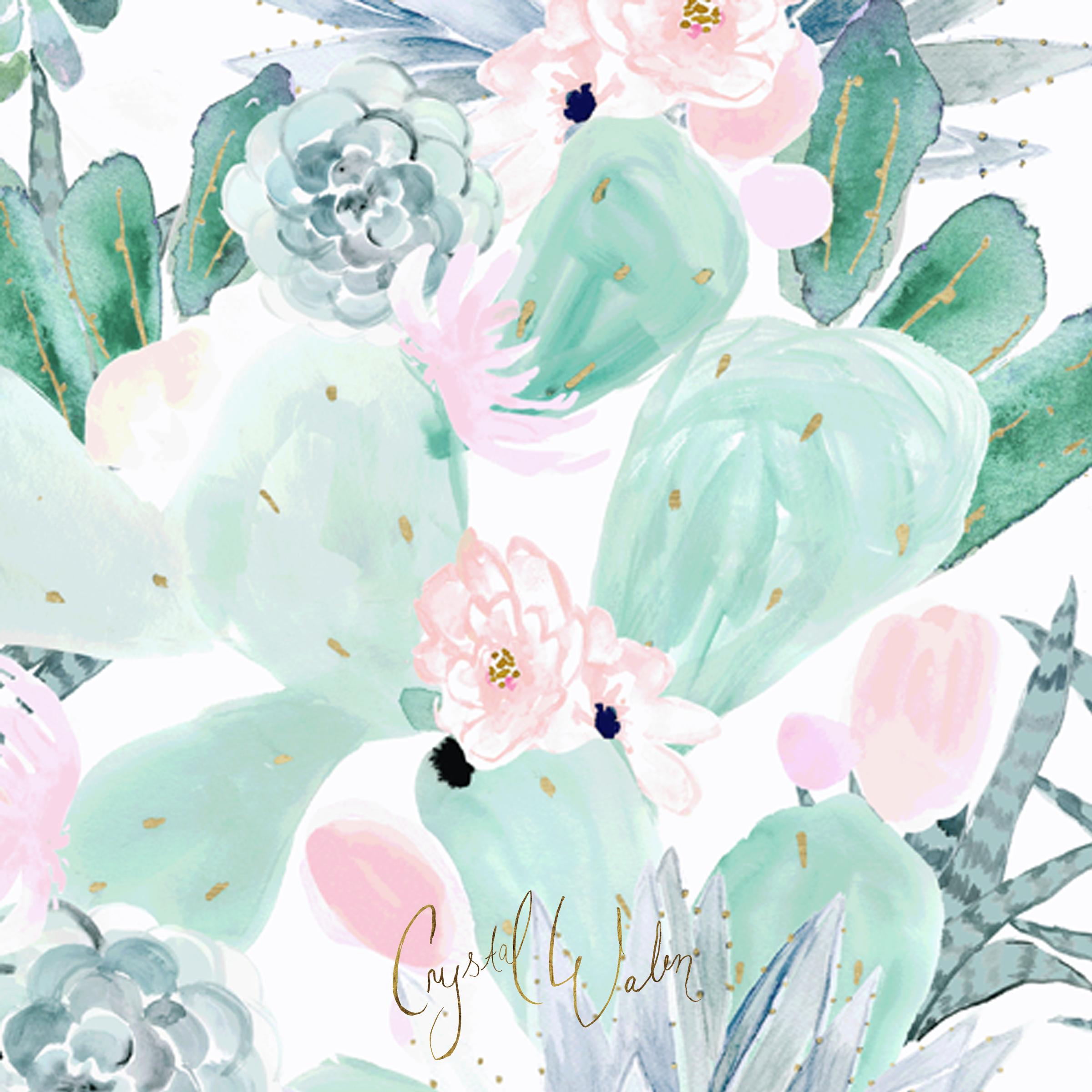 Pretty Cactus Floral + succulents