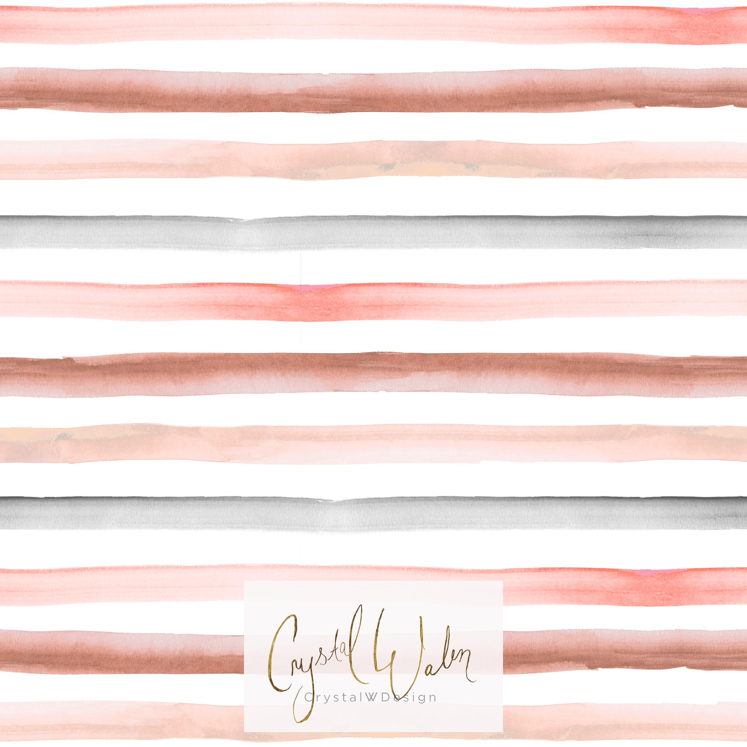 Rainbow stripe - earthy pastel