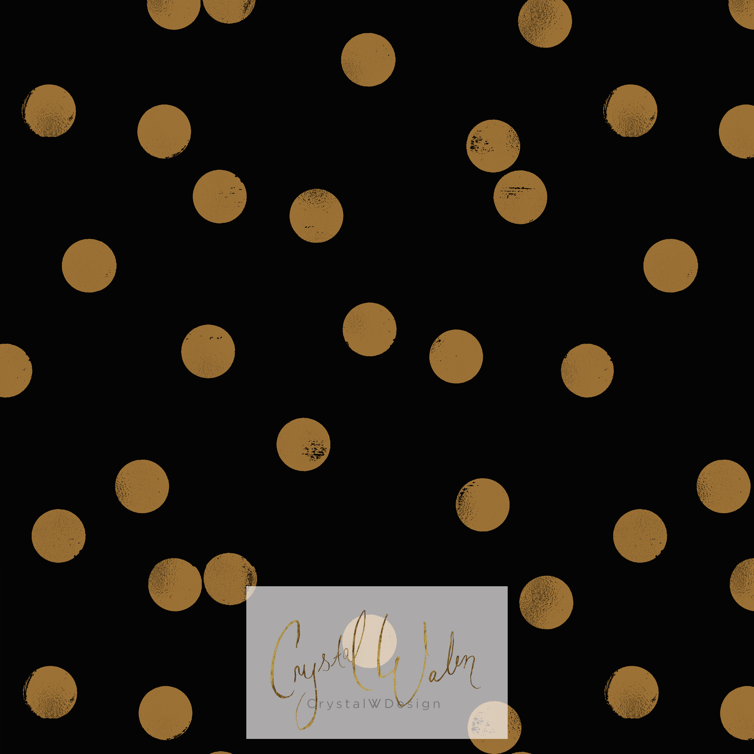 Sprinkle Dot gold on Black
