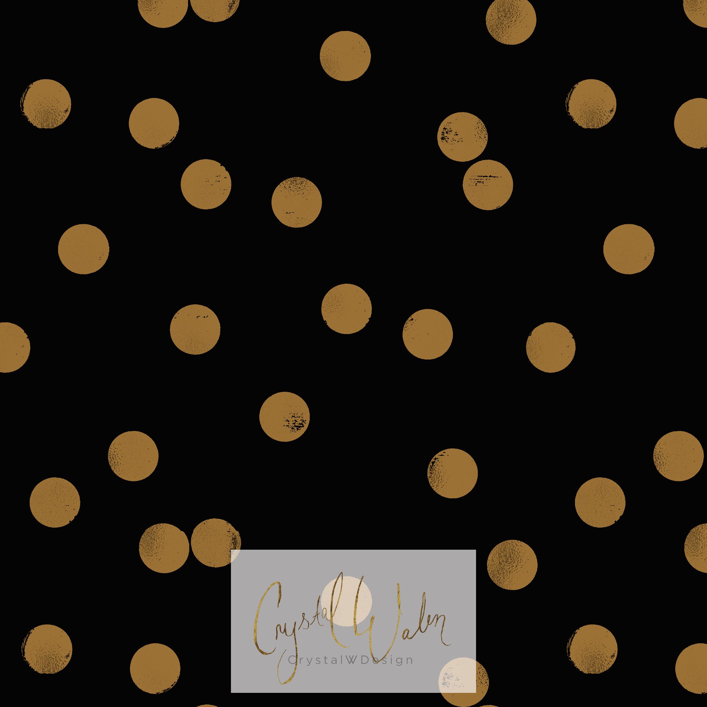Sprinkle Gold Dots