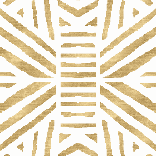 Tribal Geometric - Gold