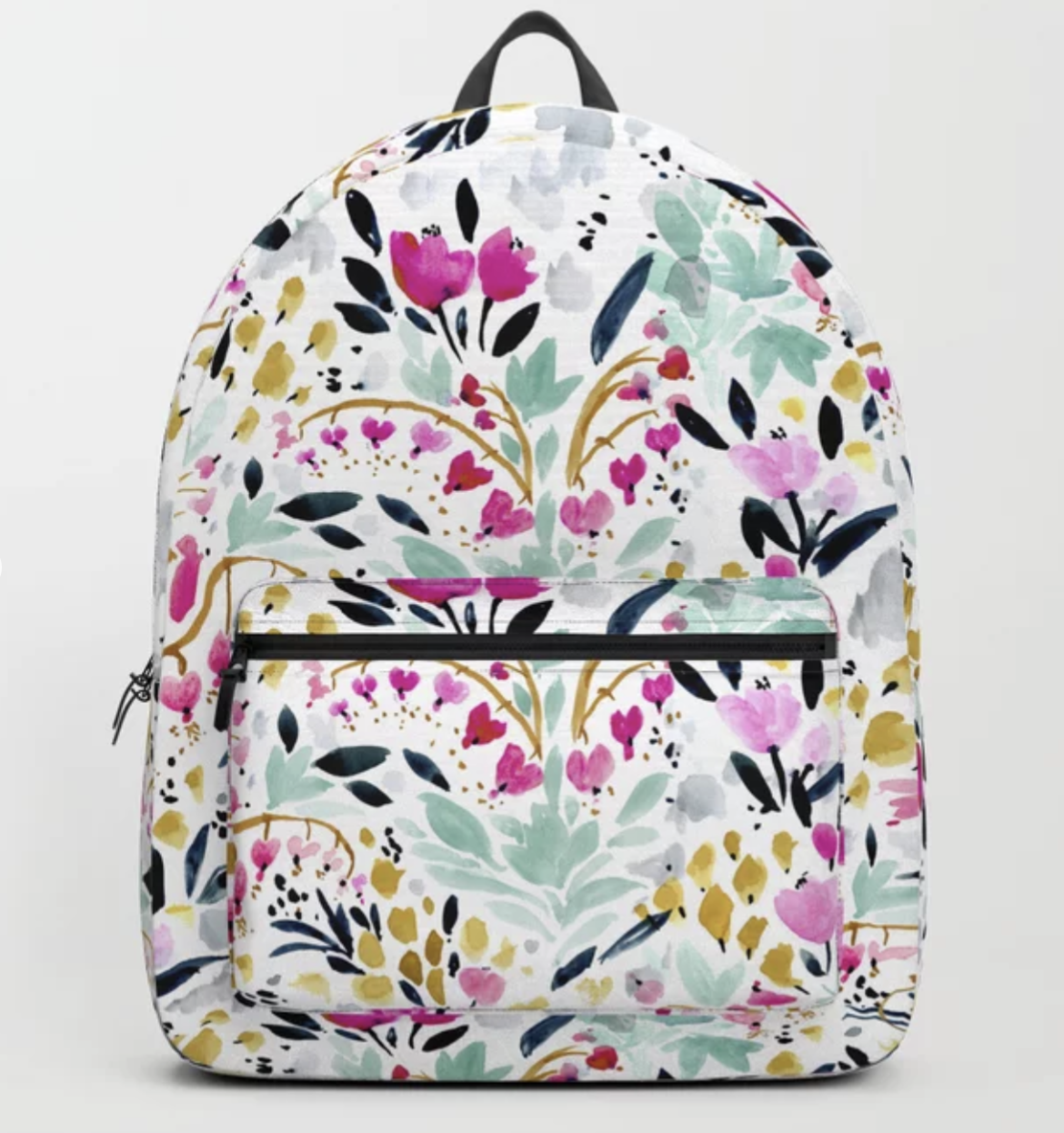 Two Hearts Beat as One Floral - backpack