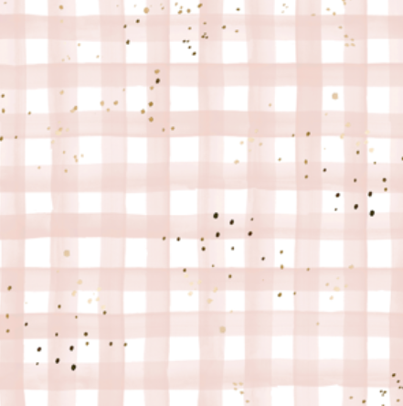 watercolor plaid- blush pink sprinkly gold