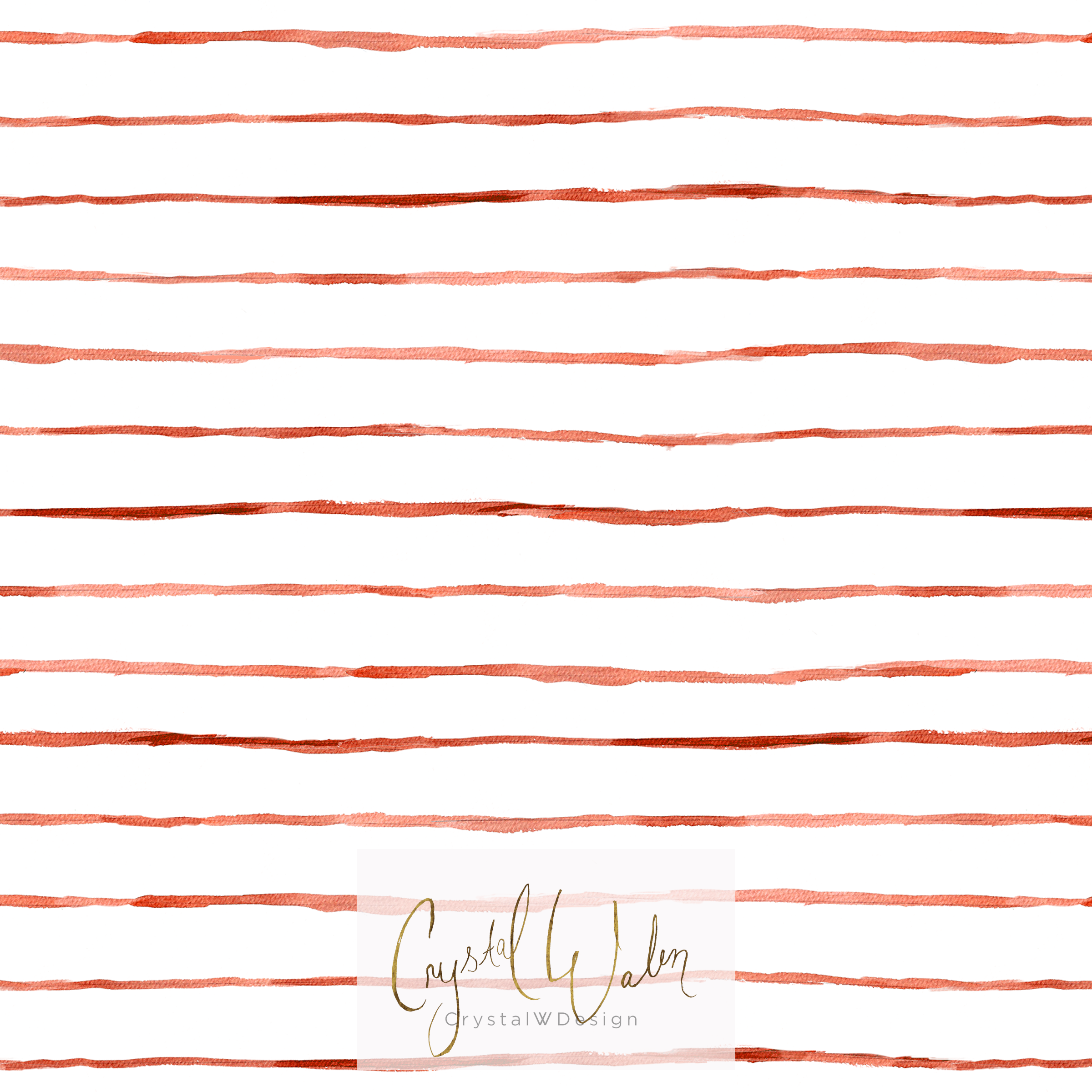 Wobbly Stripe red earth